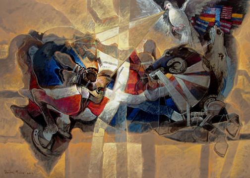 14 de Junio, 50x60 pulgs, Dustin Muñoz, 2009