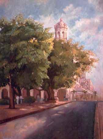 Pintura etapa de estudiante Dustin Muñoz