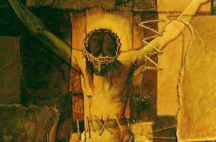 Cristo en la cruz (Detalle), 30x30 pulgs, Dustin Muñoz, 1998