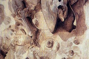Ambiente taíno, 48x59 pulgs, acrílica sobre tela, Dustin Muñoz, 1996