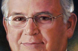Detalle retrato Sr José Antonio Caro, Dustin Muñoz, 2008, Galería Expdts Grupo BHD