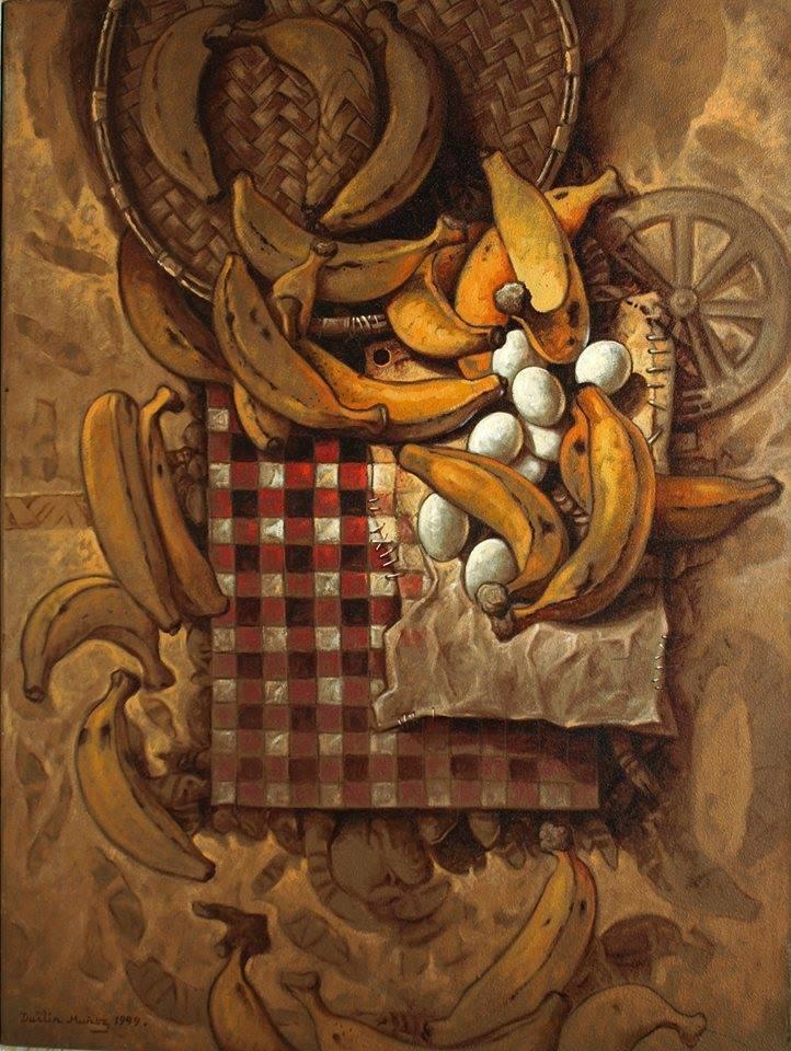 Desayuno, 40x30 pulgs, Dustin Muñoz, 2000