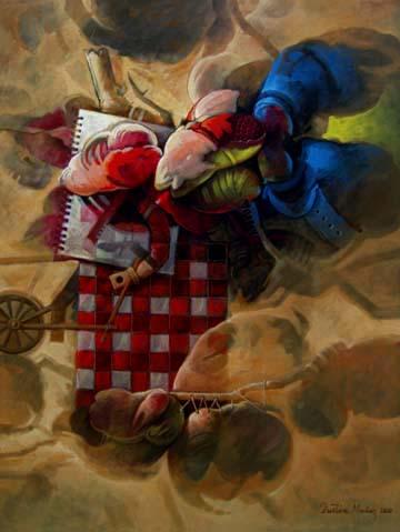 Cargando ideas fantásticas, 40x30 pulgs, Dustin Muñoz, 2010