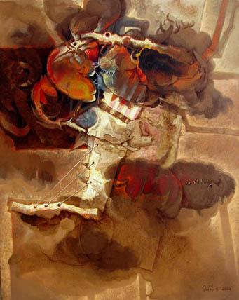 Carnaval, 50x40 pulgs, Dustin Muñoz, 2004