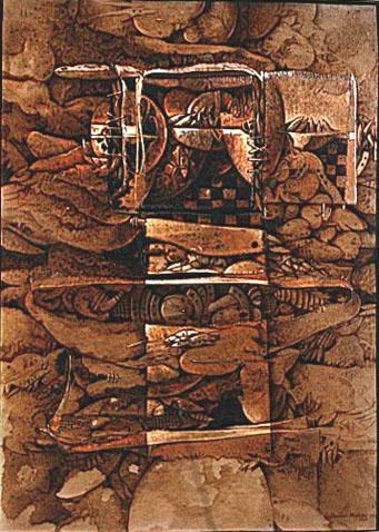 Cosecha, 40x30 pulgs, acrílica, Dustin Muñoz,1996