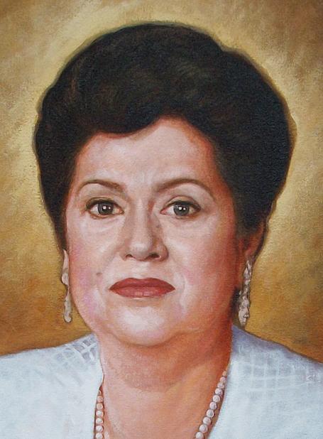 Detalle retrato Milagros, 40 x 30 pulgs, Dustin Muñoz, 2011