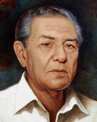Detalle retrato Freddy Gatón Arce, Dustin Muñoz
