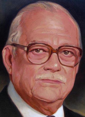 Detalle retrato Sr Samuel Conde, Dustin Muñoz, 2008, Galería Expresidentes Grupo BHD