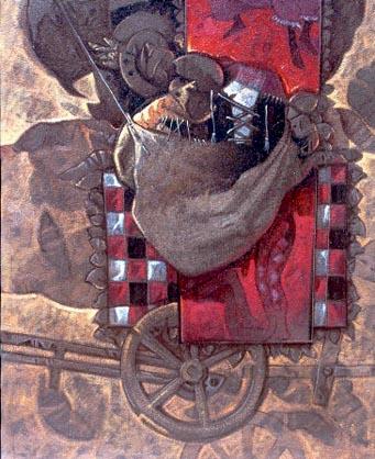 Detrás del telón, 24x20 pulgs, Dustin Muñoz, 2000