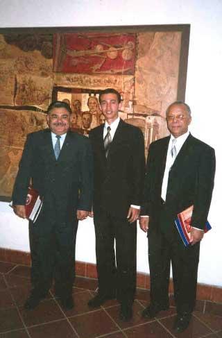 Dr Porfirio García, Rector UASD, Dustin Muñoz y Andrés Aybar, Secretario de Estado SEESCyT