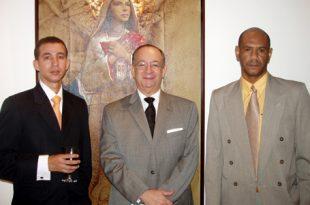 Dustin Muñoz, Dr César Iván Feris Iglesia y Manuel Toribio