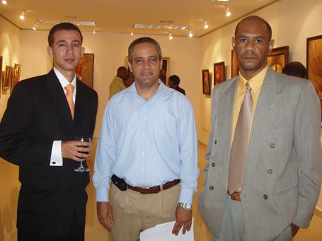 Dustin Muñoz, Rafael Osorio y Manuel Toribio
