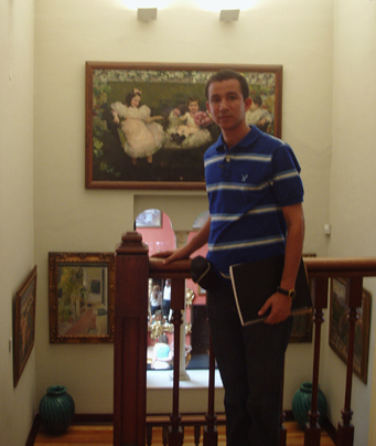 Dustin Muñoz en el Museo Sorolla, Madrid