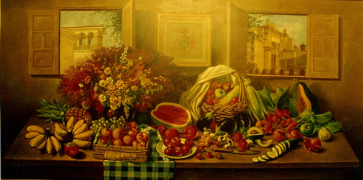El bodegón del Cardenal, 54x108 pulgs, Dustin Muñoz, 1997