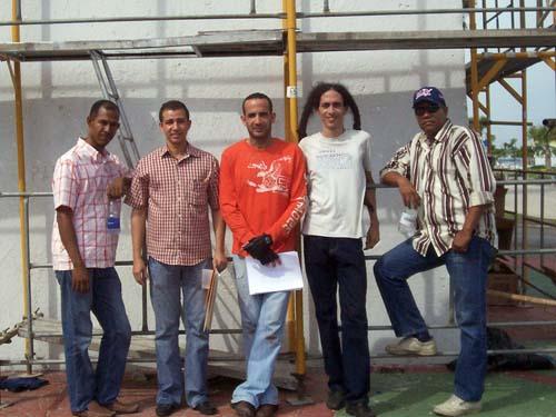 Equipo ejecutante de la obra, Torres, Dustin, Pelletier, Reyes Guzmán y Alexis