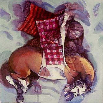 Equitación, 20x18 pulgs, Dustin Muñoz, 2008