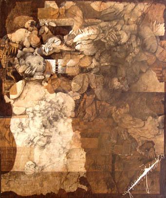 Las formas de las formas, 60x50 pulgs, Dustin Muñoz,1995