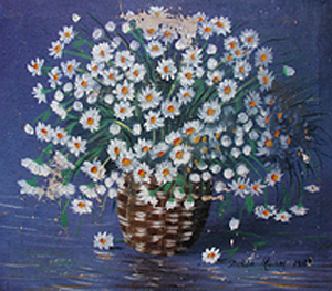 Flores, 12x12 pulgs, Dustin Muñoz,1986