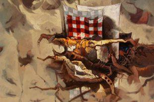 Fuera de la caverna, 40x50 pulgs, Dustin Muñoz, 2004