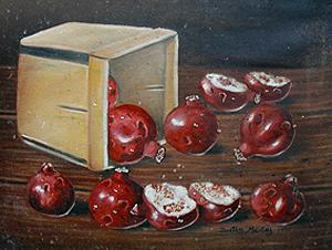 Granadas, 20x24 pulgs, Dustin Muñoz, 1987