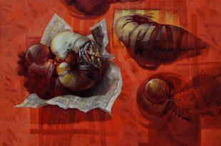 La noticia, 35x40 pulgs, Dustin Muñoz, 2014