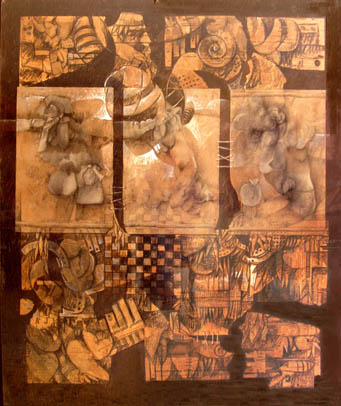 Extrañas formas, 60x50 pulgs, Dustin Muñoz, 1995