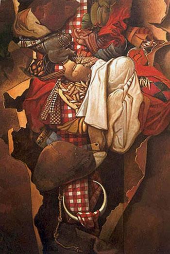 Los sueños de José, 60x50 pulgs, acrílica sobre tela, Dustin Muñoz,1998