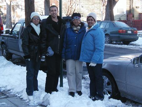 María Almánzar, Dustin Muñoz, Ana Hilda Almánzar su madre y Mignolia Almánzar, New York, EEUU