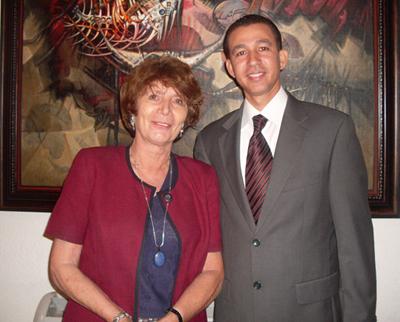Marianne de Tolentino y Dustin Muñoz