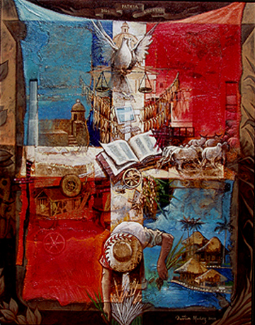 Mi patria, 40x30 pulgs, Dustin Muñoz, 2008.