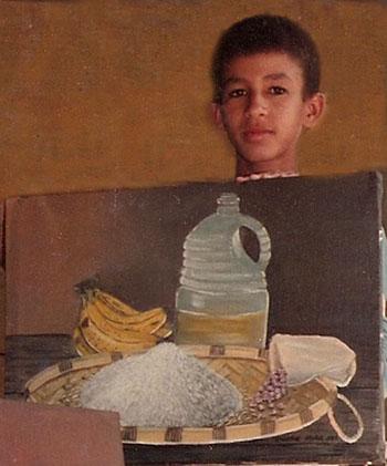 Mi primer cuadro al óleo, Dustin Muñoz