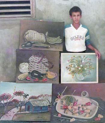 Mis obras a los 13 años, Dustin Muñoz