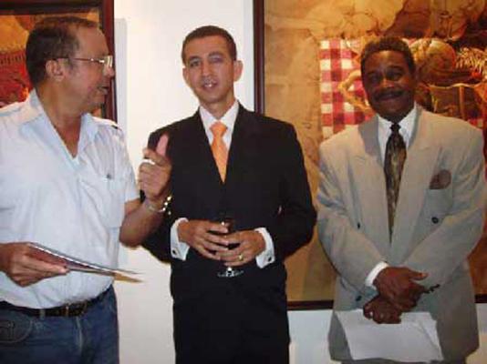 Norberto Santana, Dustin Muñoz y Martín Santos