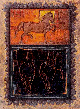 Pasos finos, 30x24 pulgs, Dustin Muñoz, 2001