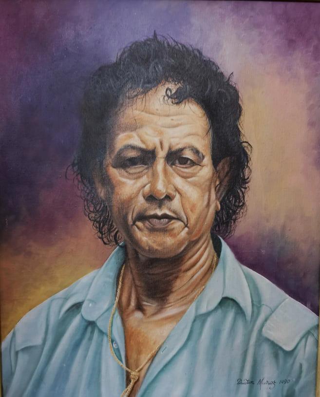 Retrato de Ramón Oviedo, 1990, autor Dustin Muñoz