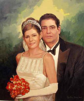 Recién casados, 36x28 pulgs, Dustin Muñoz, 2006