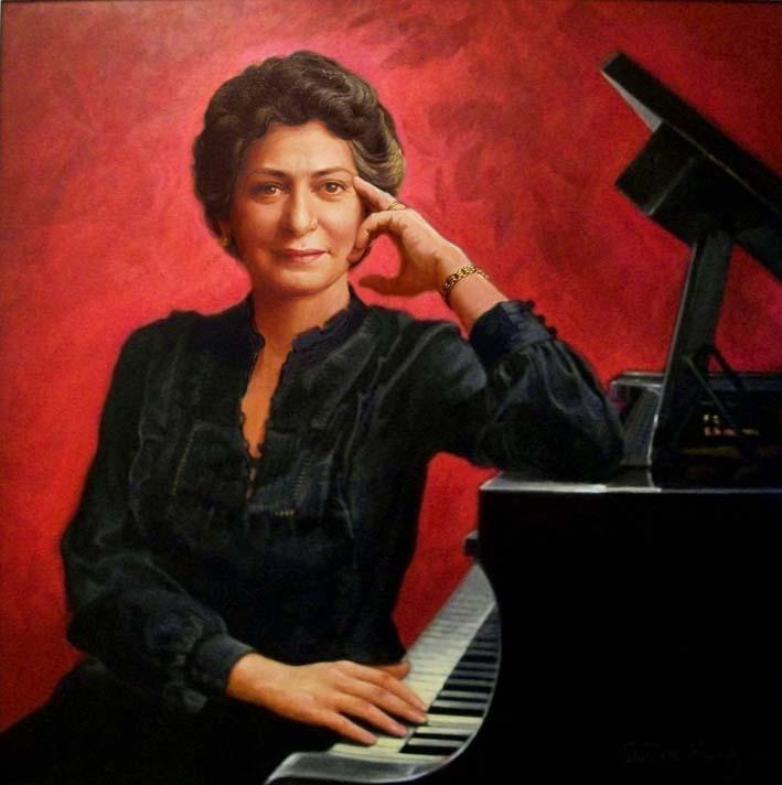 Retrato Aída Bonnelly de Díaz, 36x36 pulgs, Dustin Muñoz, 2011