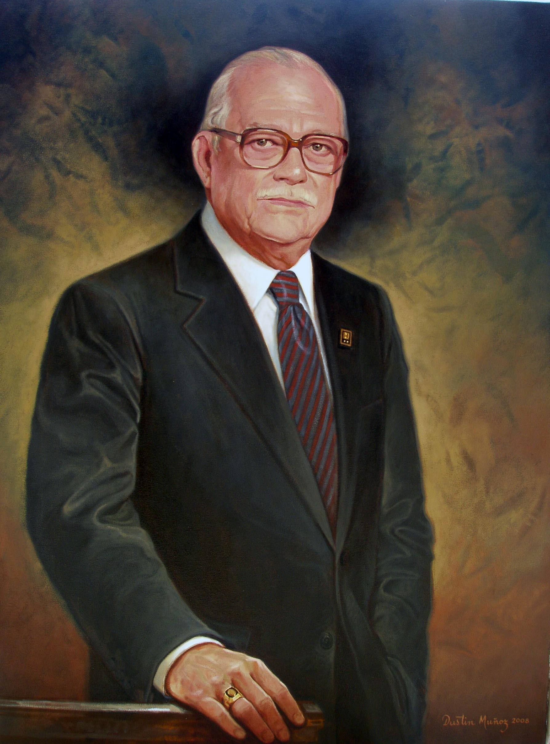 Retrato Sr Samuel Conde, Dustin Muñoz, 2008, Galería Expresidentes Grupo BHD