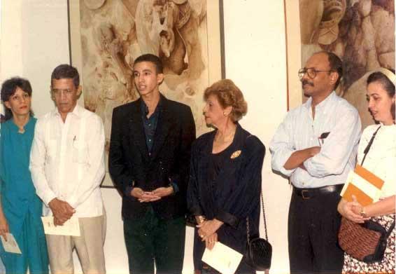 Leopoldo Pérez y esposa, Dustin Muñoz, Marianela Jiménez, Amable Sterling y esposa