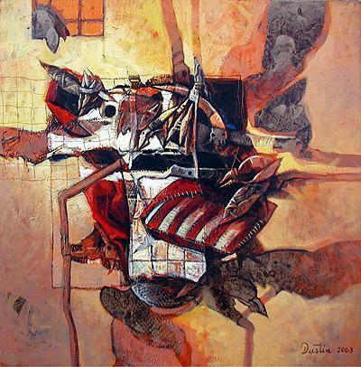 Señales, 24x24 pulgs, Dustin Muñoz, 2003