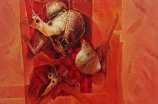 Detrás del telón, 16x16 pulgs, 2014, Dustin Muñoz