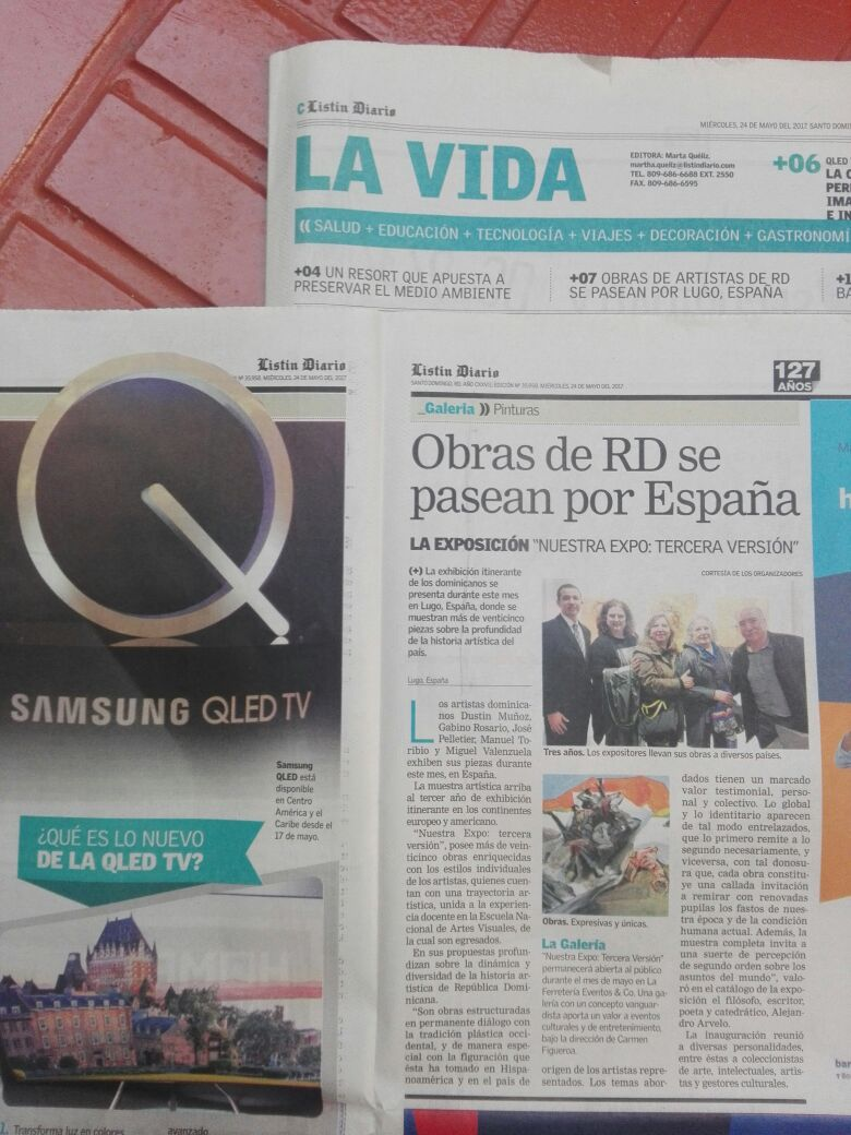 Listín Diario, en respaldo de la exposición Nuestra expo: tercera versión.