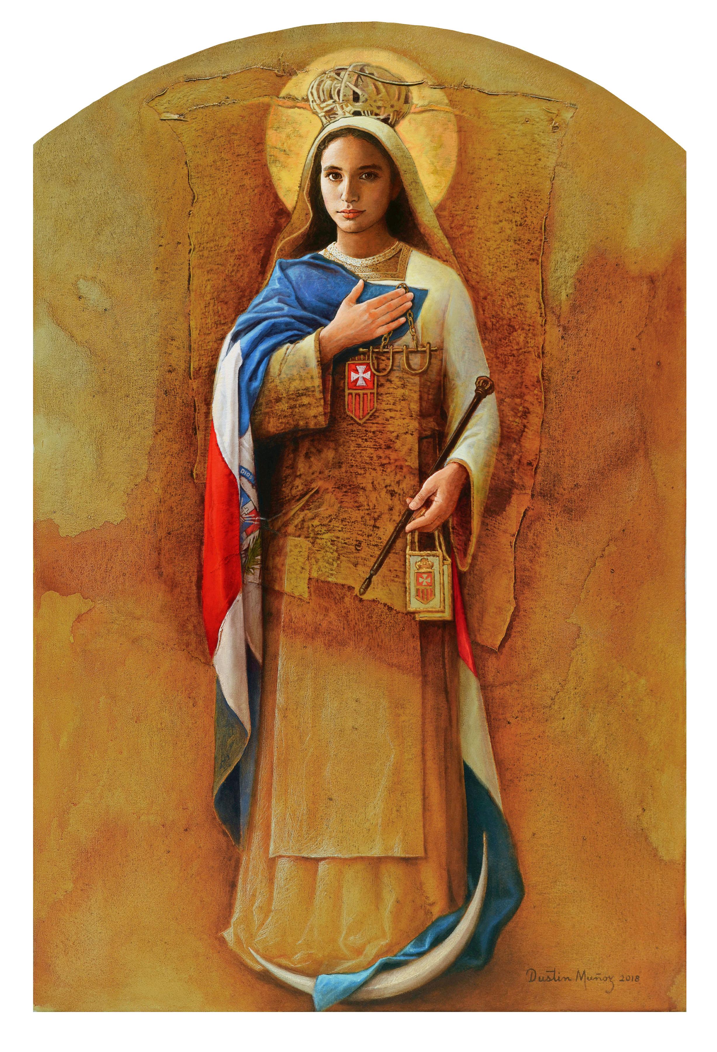 Obra Virgen de Las Mercedes, patrona de la República Dominicana, entronizada en la Catedral Primada de América el 12 de enero del 2018, por iniciativa de la Orden de La Merced, en ocasión de sus ochocientos años de fundación