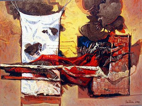 A pleno sol, 30x40 pulgs, Dustin Muñoz, 2003