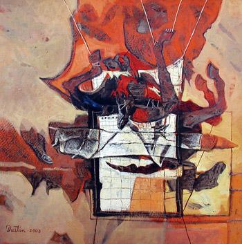 Atado, 24x24 pulgs, Dustin Muñoz, 2003