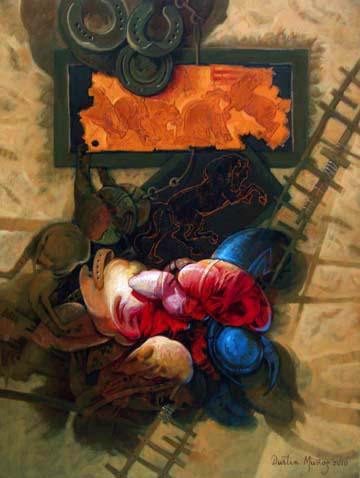 De Leonardo y otras cosas, 40x30 pulgs, Dustin Muñoz, 2010