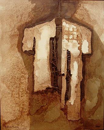 Después del viacrusis, 30x24 pulgs, Dustin Muñoz, acrílica sobre tela, 2006