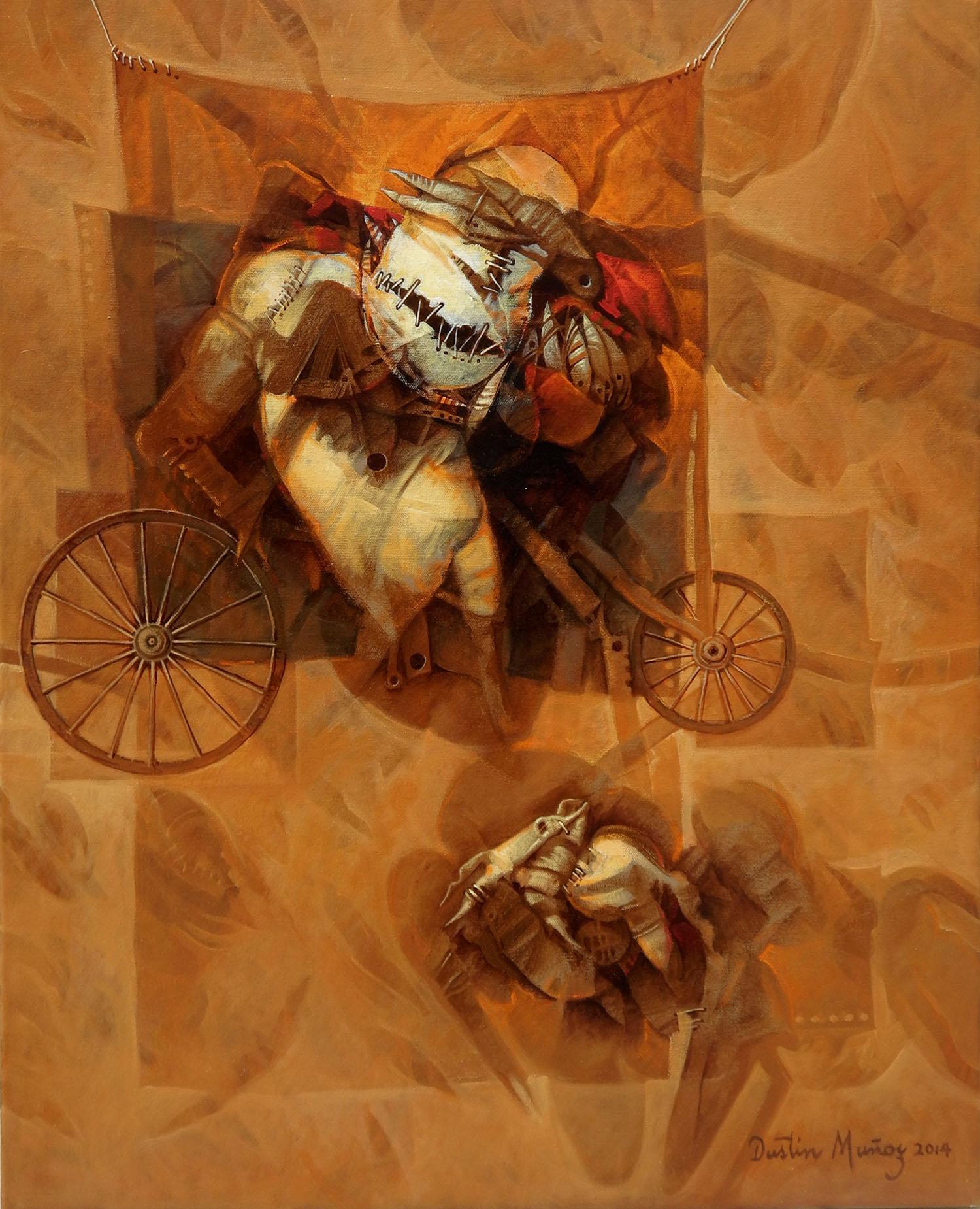 Detrás del telón, 30x24 pulgs, Dustin Muñoz, 2014