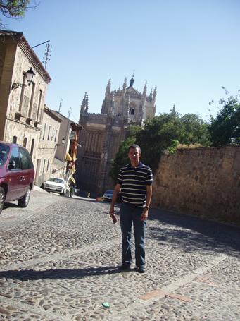 Dustin Muñoz en Toledo, España