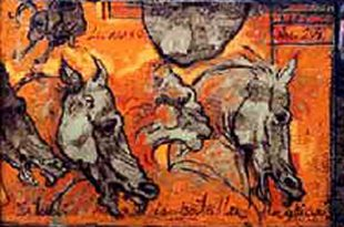 Cosas de Leonardo I (Fragmento), 20x16 pulgs, Dustin Muñoz, 2001